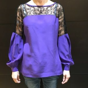 Tory Burch Silk Beaded & Sequin Blouse.